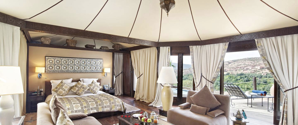 Luxury Safari Tents can be built anywhere in the world and often bring you closer to nature