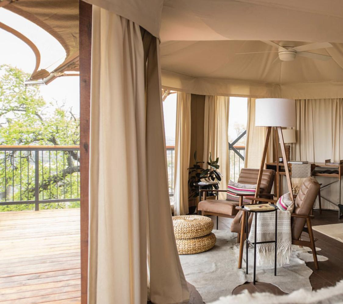 Luxury Safari tents and being close to nature is a trend here to stay